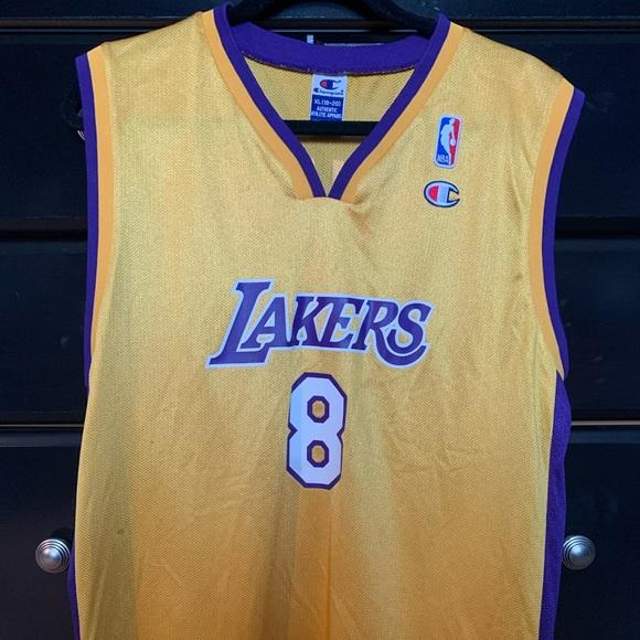 Vintage Kobe Bryant #8 LA Lakers Jersey, Youth XL